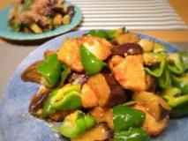 減塩レシピ 鶏肉となす、ピーマンの中華風炒め