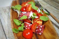 減塩レシピ 青じそでさっぱりタコとトマトの減塩マリネ