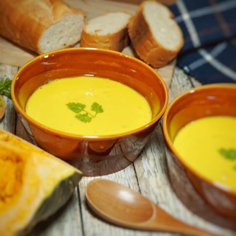 減塩レシピ かぼちゃのポタージュスープ