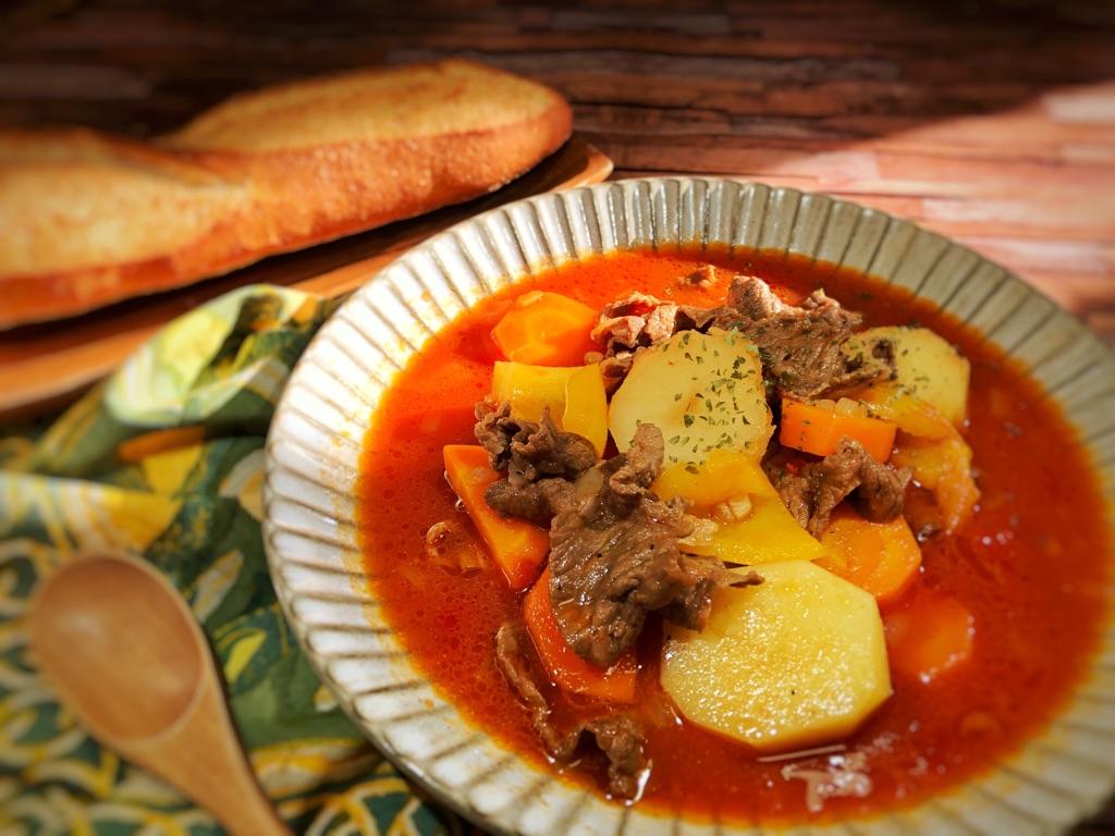 減塩レシピ 牛肉と野菜の具沢山スープ