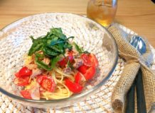 減塩レシピ ツナとトマトの冷製パスタ