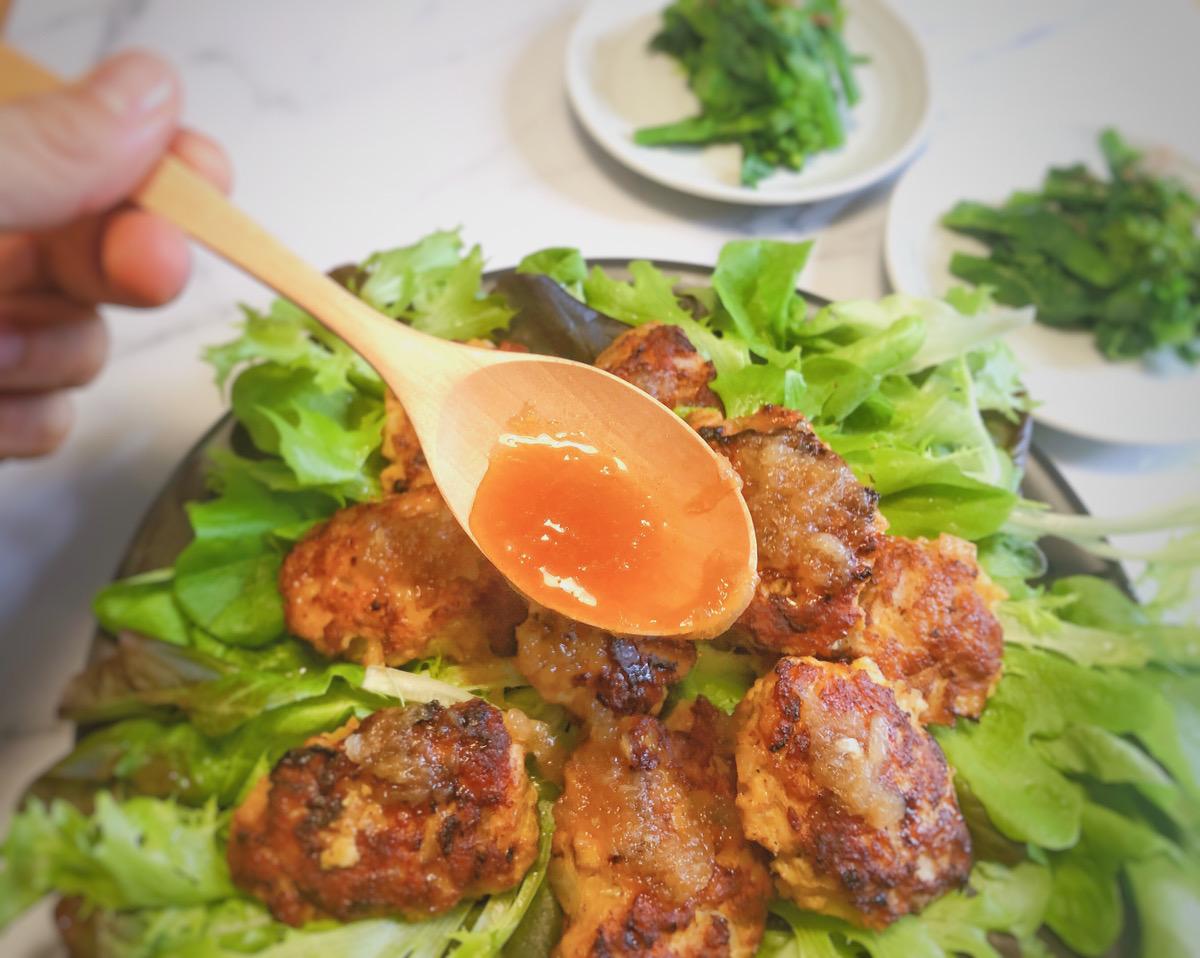 減塩レシピ 新たまねぎソースで食べるハンバーグ