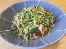 減塩レシピ お手軽手抜きレンチン豆苗と豚肉の中華炒め風