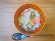減塩レシピ お手軽手抜きレンチン 減塩コーンクリームシチュー